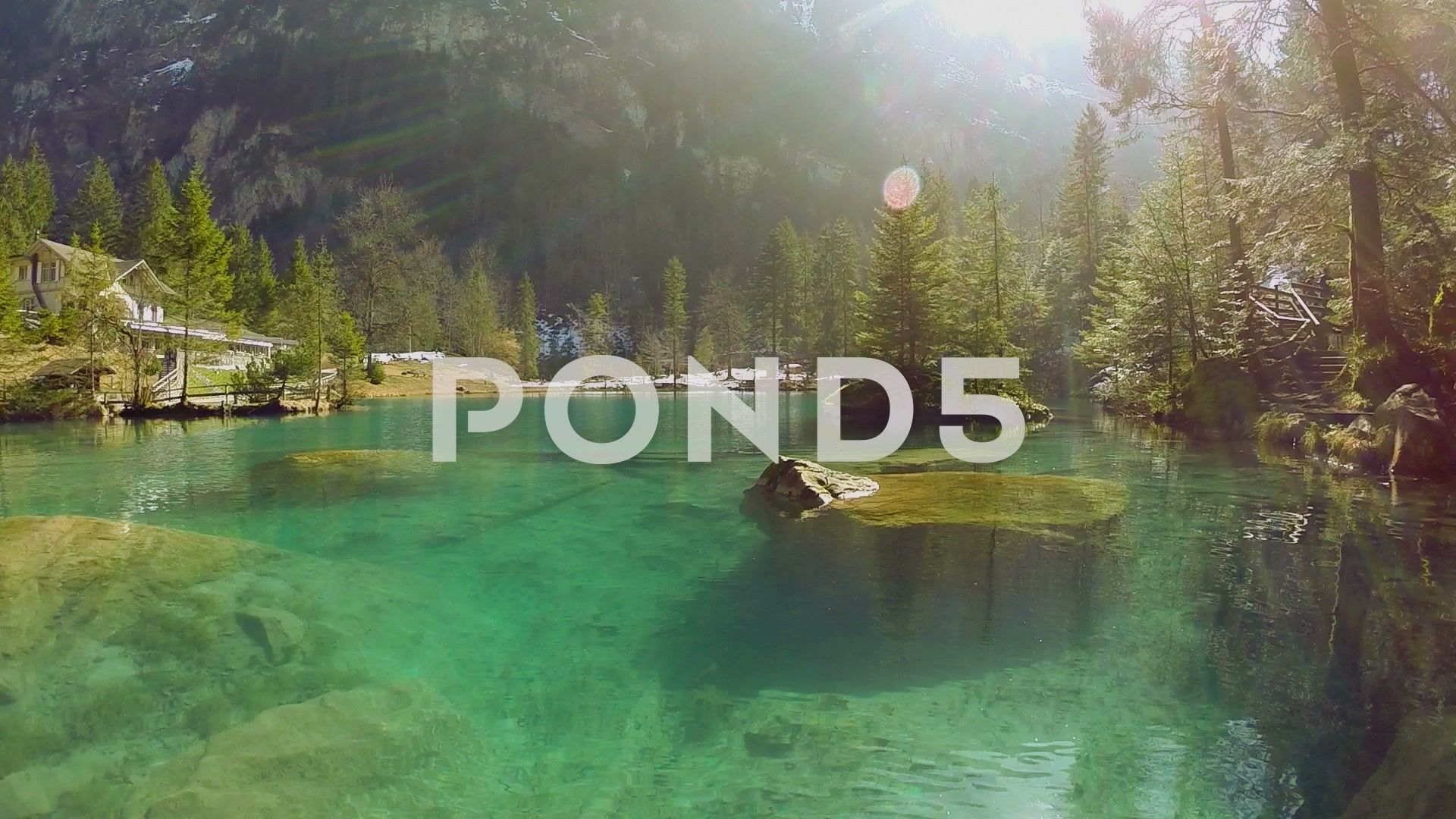 Lake Resort Pond Turquoise Water Nature Background Aerial View Fly Over Stock Footage Turquois Landscape Scenery Nature Backgrounds Landscape Design Plans