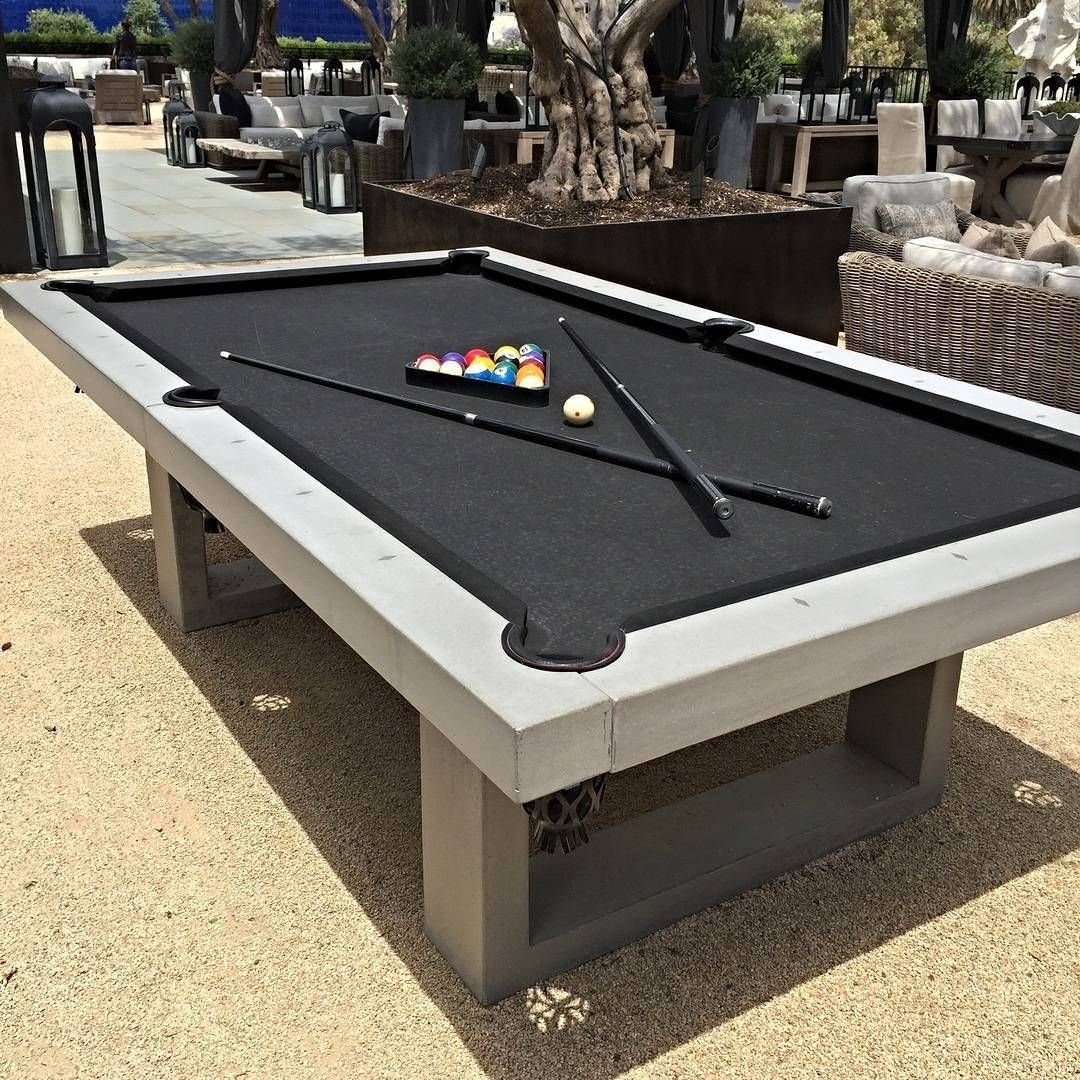 How cool is this? They sell outdoor pool tables out of