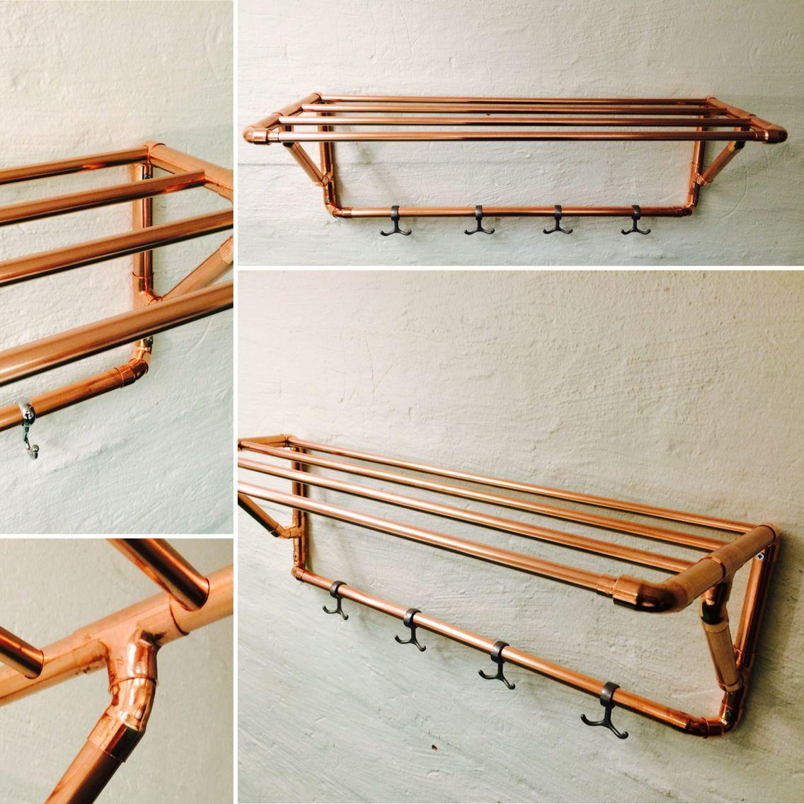 #hatthylla #koppar #kopparrör #cupurumdesign Copper design Pinterest Hall, Trappor och