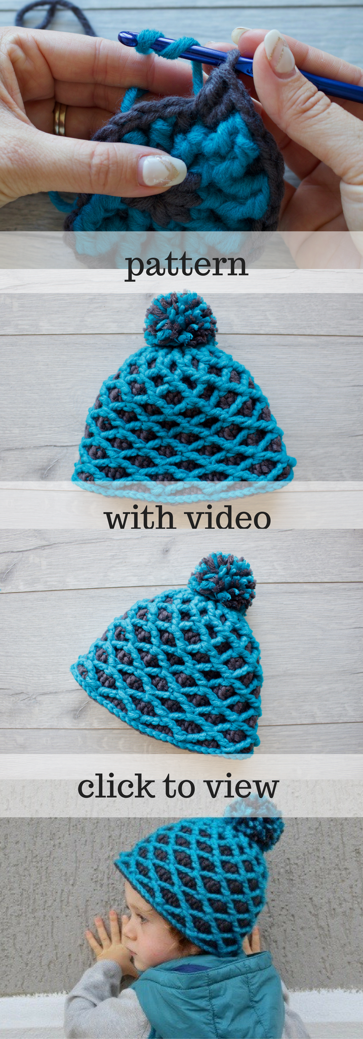 Toddler boy beanie pattern with full video tutorial diamond stitch easy crochet pattern pattern pom pom hat christmas christmas gift touque pattern pdf patterns beanie pattern video tutorial gift baditri Image collections
