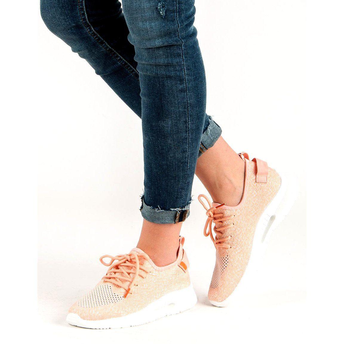 Trampki Damskie Butymodne Rozowe Przewiewne Obuwie Sportowe Shoes Stella Mccartney Elyse Mccartney