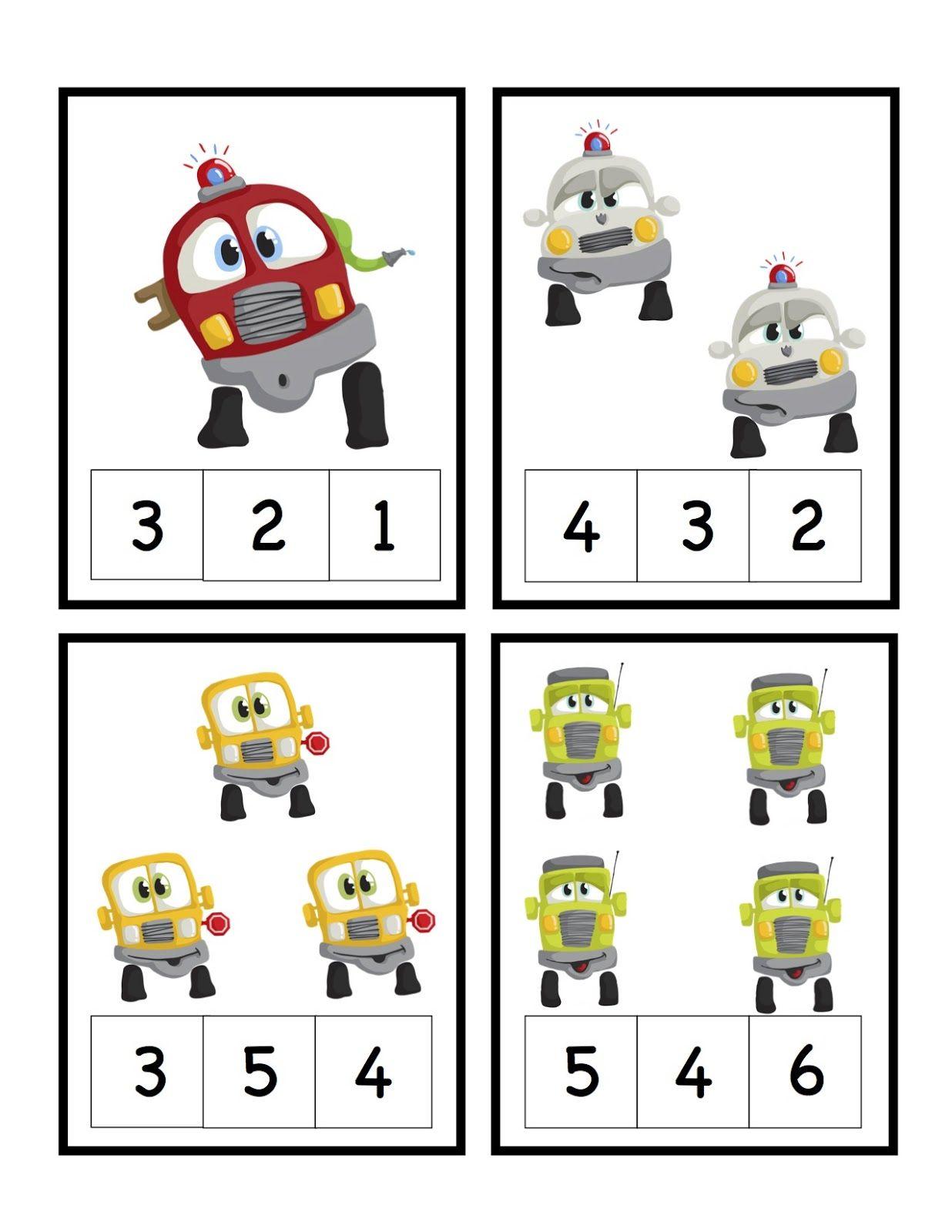 Preschool Printables Cars