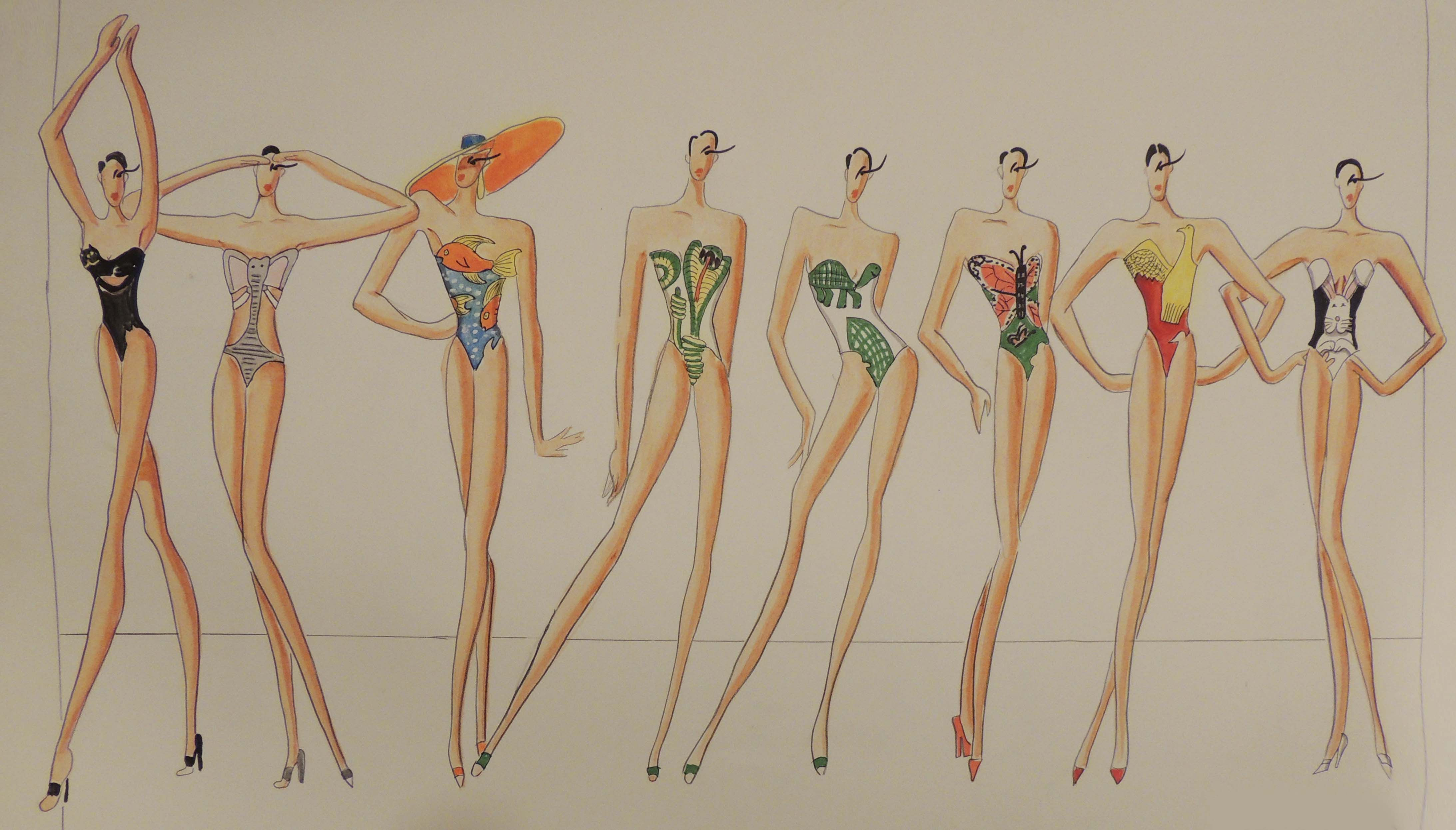 Bathing Suit designs with cutouts