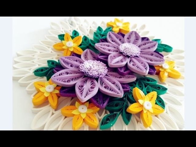 paper quilling flower for wall hanging decoration 17 diy wall decorationpaper flower art