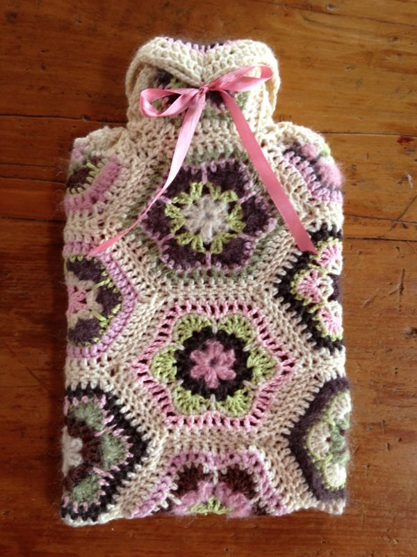 African Flowers Hot Water Bottle Cover By Gina Ross Design Free