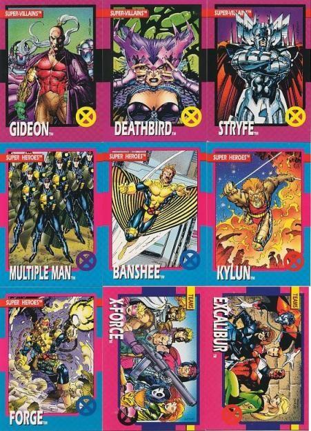 Jim Lee X Men Comic Cards Jim Lee Art Marvel Cards Card Illustration