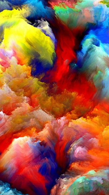 Iphone 6s Wallpaper Galaxy Wallpaper Paint Clouds Canvas painting hd wallpaper