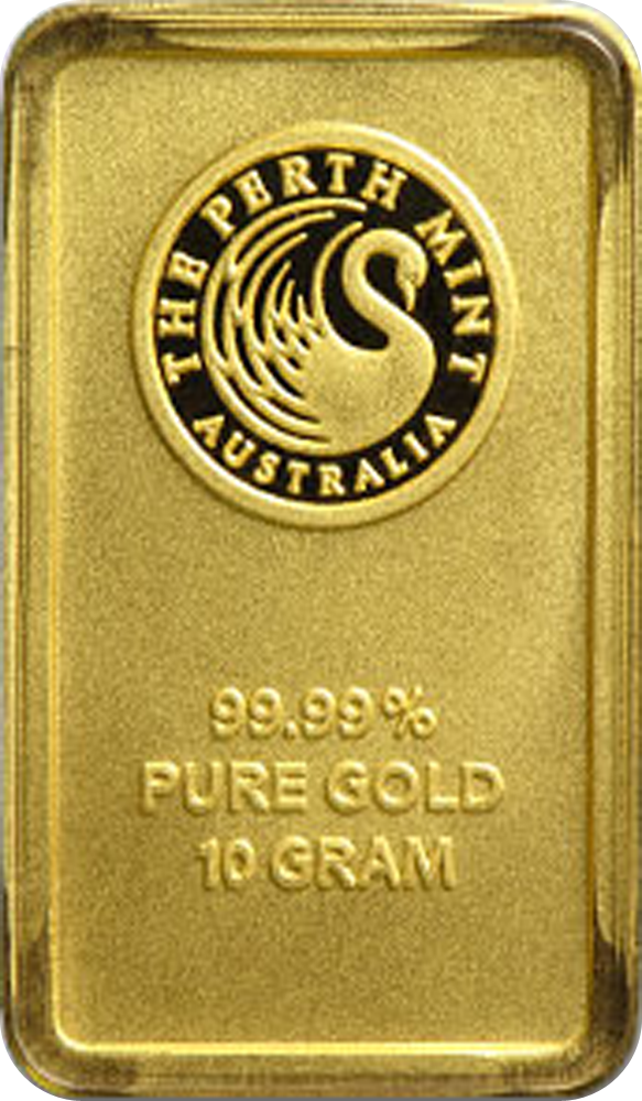 10 Gram Gold Australian Perth Mint Bar Obverse Each 10 Gram Gold Bar Is Sealed In A Tamper Proof Assay Car Gold Bullion Bars Gold Bullion Coins Gold Bullion