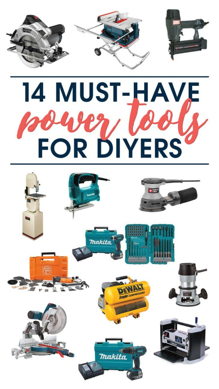 Must Have Power Tools For Diyers Woodworking Woodworking Power