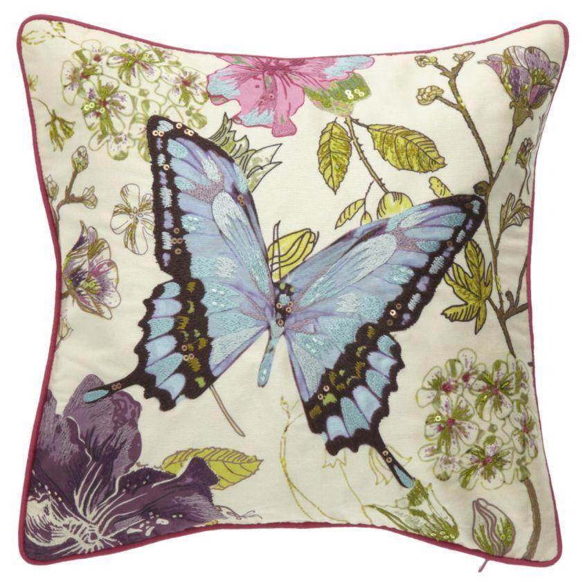 By Sainsbury S Erfly Beaded Cushion Cushions