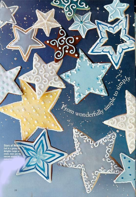 Star decorating ideas | Star cookie decorating ideas. | natale ...