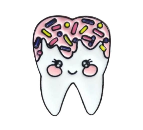 """Dental Hygienists, dentist gift, dentist graduation, gifts for dentists, dental hygiene,  t shirt,  apparel, clothing, gift.Specifications:This brooch pin features tooth smiley design. Size: 3cm x 2.3cm/1.18"""" x 0.91"""" (Approx.) Notes:Due to the light and screen setting difference, the item's color may be slightly different from the pictures.Please allow slight dimension difference due to different manual measurement. Package Includes:1 x Brooch Pin"""