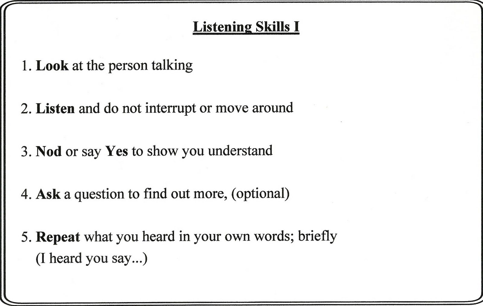 Active Listening Is Very Important When Trying To Resolve