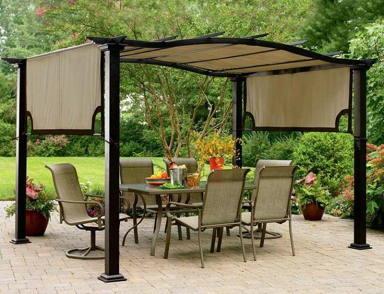 Quiet Corner Backyard Gazebo Ideas Quiet Corner Curved Pergola Canopy Outdoor Patio Canopy