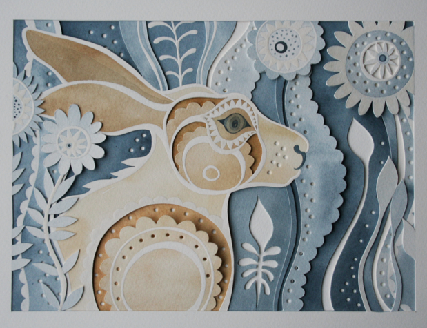 Louise Jenkins paper cuts--multiple layers with color ...
