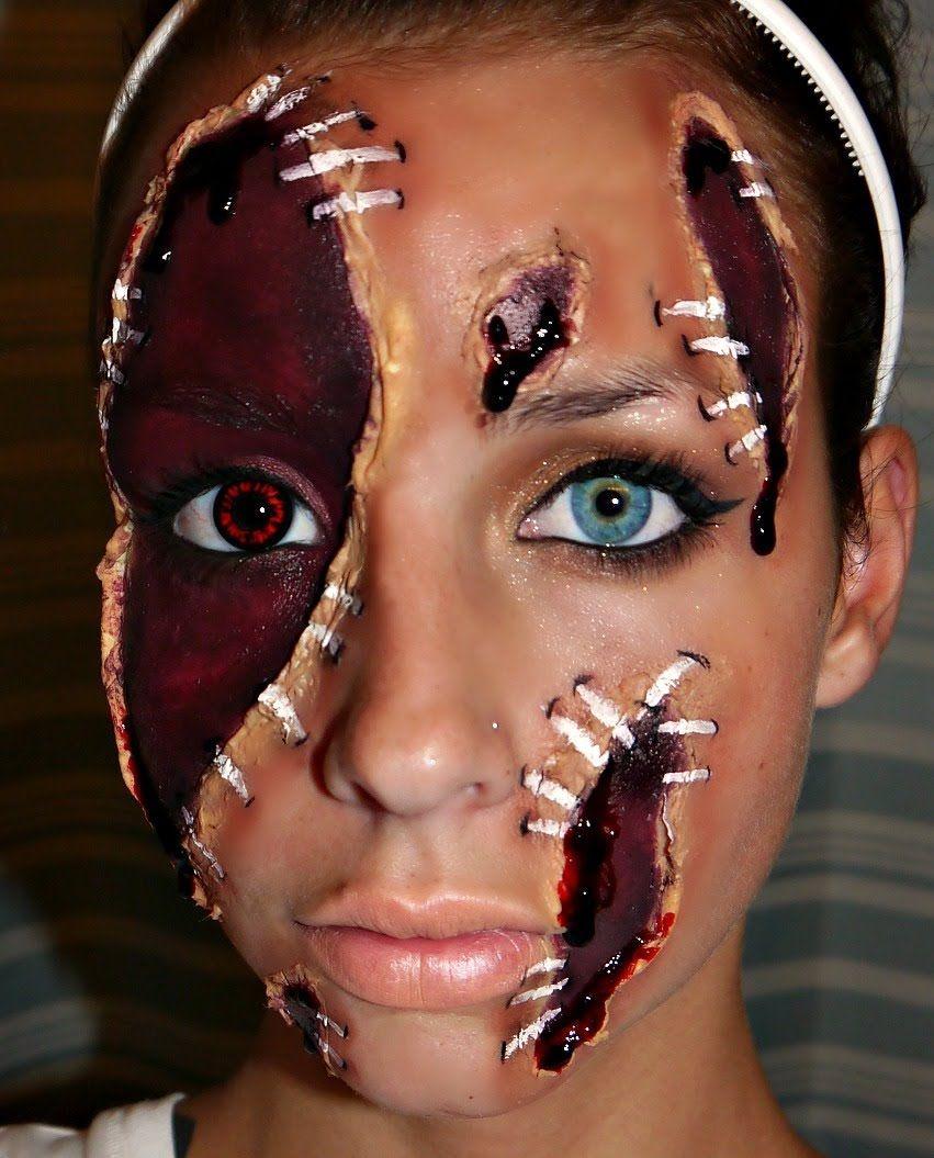 Halloween Series 2012 Shredded Face Makeup Tutorial