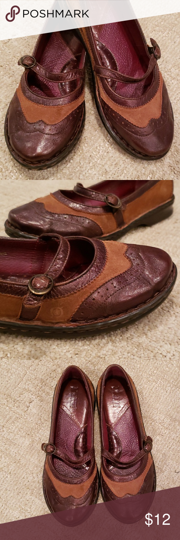 e0a1d4eac Born Brogue Mary Janes A spiffy pair of shoes from Born. Dark brown leather  with