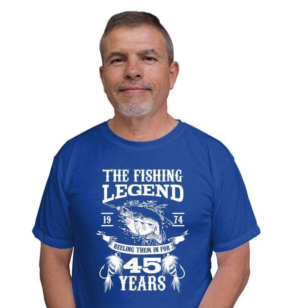 45th Birthday Present For Dad Gift Ideas Men Fishing T Shirt Fisherman TShirt The Fishi