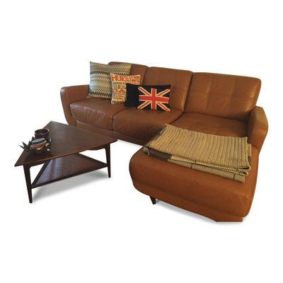 Cognac Leather Sectional Sofa From Bloomingdaleu0027s.   Dexter Sectional Sofa  From Bloomingdaleu0027s In Cognac Brown Leather  Features A Chaise Lounge And  Tufted ...