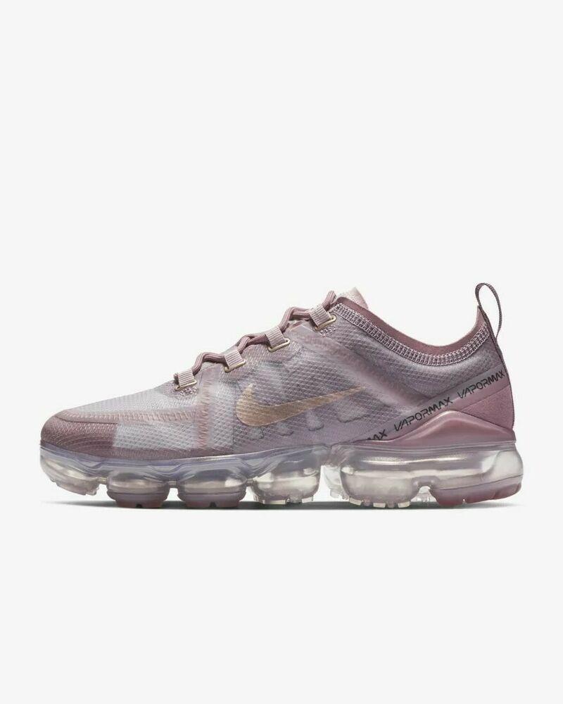 89ccee7f18c3c Nike Air Vapormax 2019 Flyknit (PinkGold) Running Athletic -Women ...