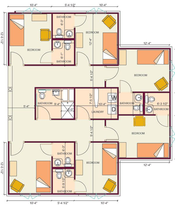 House plans for senior living for Group house plans