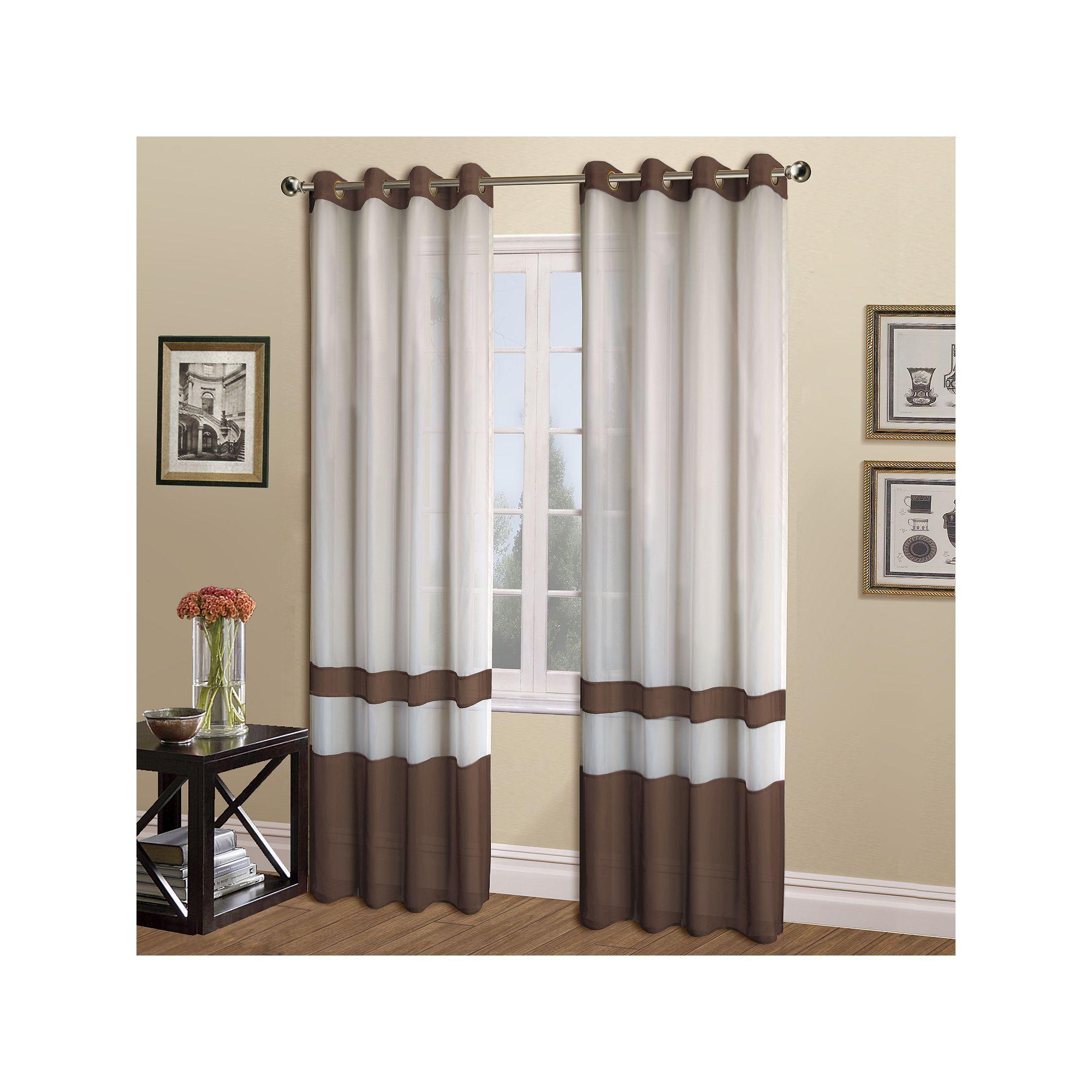 United Window Curtain Co. Milan Window Curtain, Black | Window ...