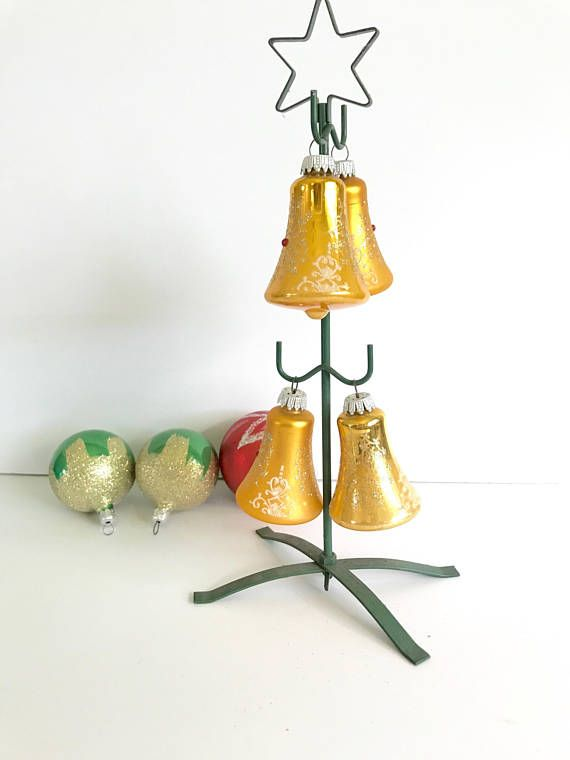 Bell Decoration Alluring Vintage Bell Ornaments  Gold Bell Metallic Glass Ornaments Review