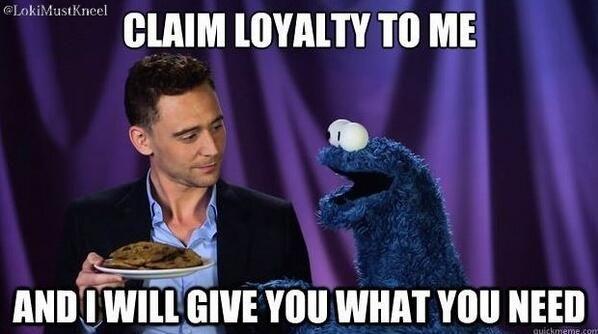 Twitter Lokimustkneel I Really Messed Up A Meme Monster Cookies Tom Hiddleston Loki