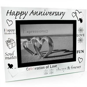 glass happy anniversary 4 x 6 photo frame general anniversary photoframes happyanniversary