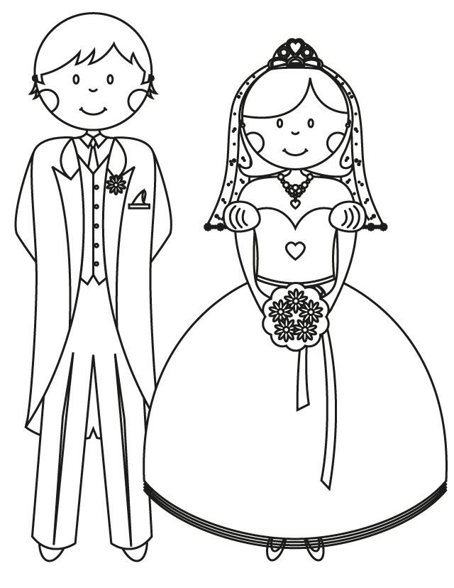 17 Wedding Coloring Pages for Kids Who Love to Dream About