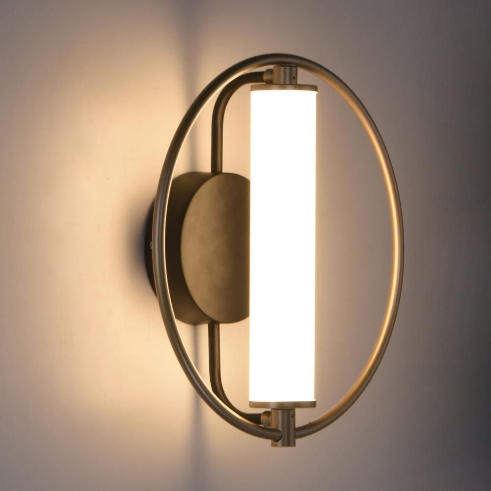 The Flare Led Wall Sconce By Et2lighting Unites Opposites Of All Kinds Into A Common Design Setting Circular Fo Wall Lamp Design Wall Lamp Wall Lamps Bedroom