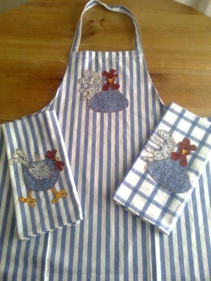Delantales y pa os de cocina de patchwork algod n 100 - Panos de cocina ...