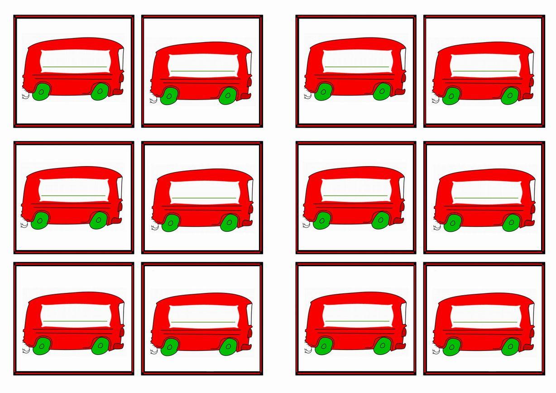FREE Printable Transportation Themed Name Tags