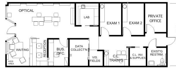 Floor Plan Design   Barbara Wright Design   Office Floor PlanOptometry  Floor Plan Design   Barbara Wright Design   Mobile Health Care  . Optometry Office Design Services. Home Design Ideas