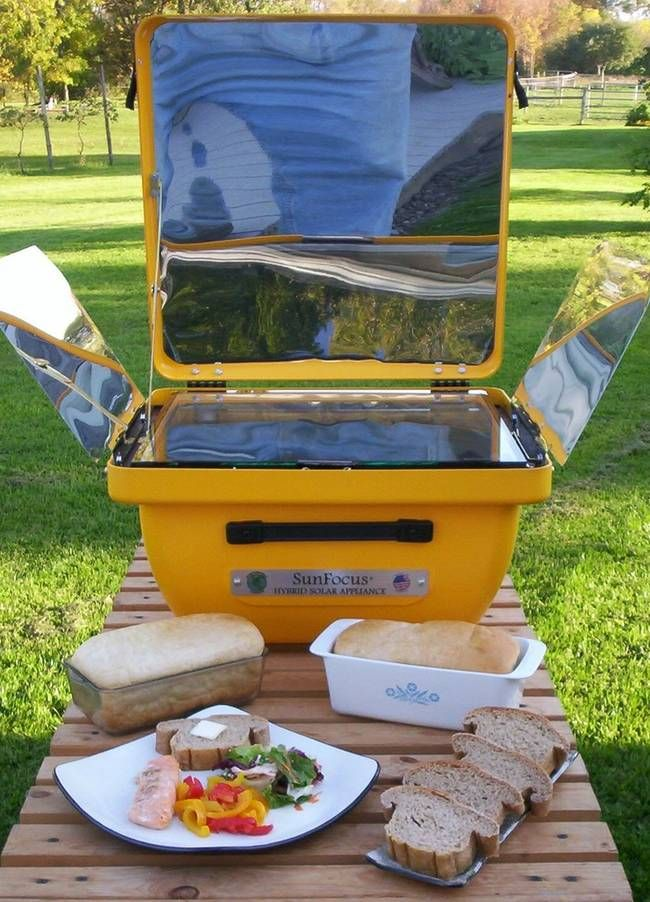 Hybrid Solar Oven Can Cook On Cloudy Days Or At Night