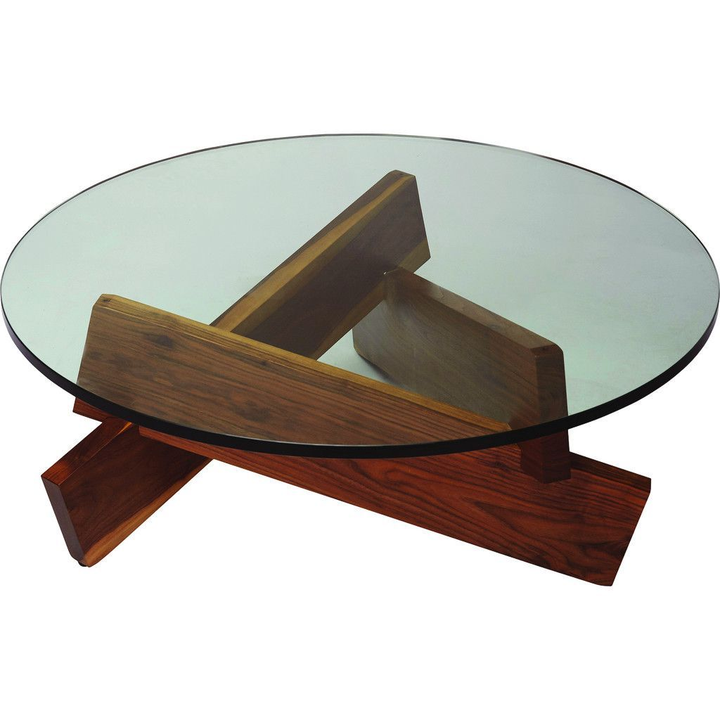 ion design plank coffee table brown