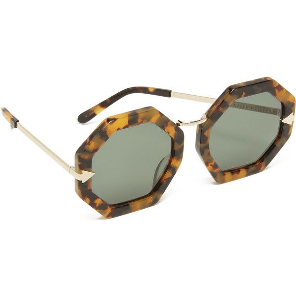 3595f2af28ee Karen Walker Moon Disco Sunglasses ( 300) ❤ liked on Polyvore featuring  accessories