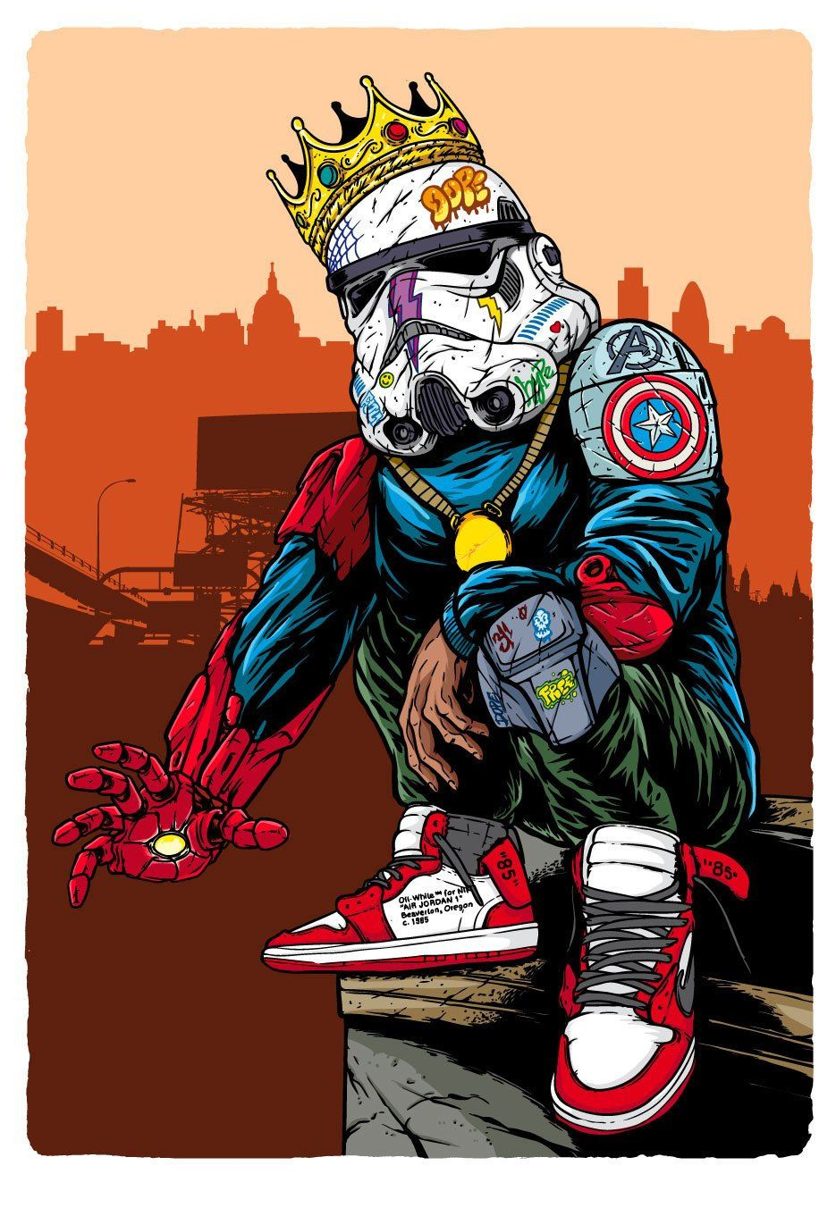 Hypebeast Stormtrooper Swag Cartoon Swag Art Superhero Wallpaper Aesthetic hypebeast cartoon wallpaper hd