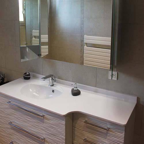 Meuble Salle De Bain Avec Plan En Resine 150 Cm Touquet Meuble Salle De Bain Salle De Bain Amenagement Toilettes