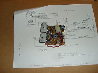 NIKKO RECEIVER CIRCUIT BOARD (RJ9032) WITH WIRING DIAGRAM | Nikko