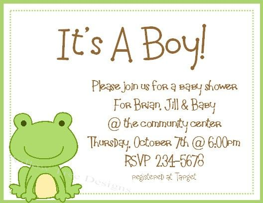 Frog Baby Shower Invitations Invitation Ideas Template