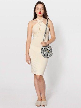 Cotton Spandex Jersey Bandeau Pencil Dress   Strapless & Bandeaus   Women's Dresses   American Apparel