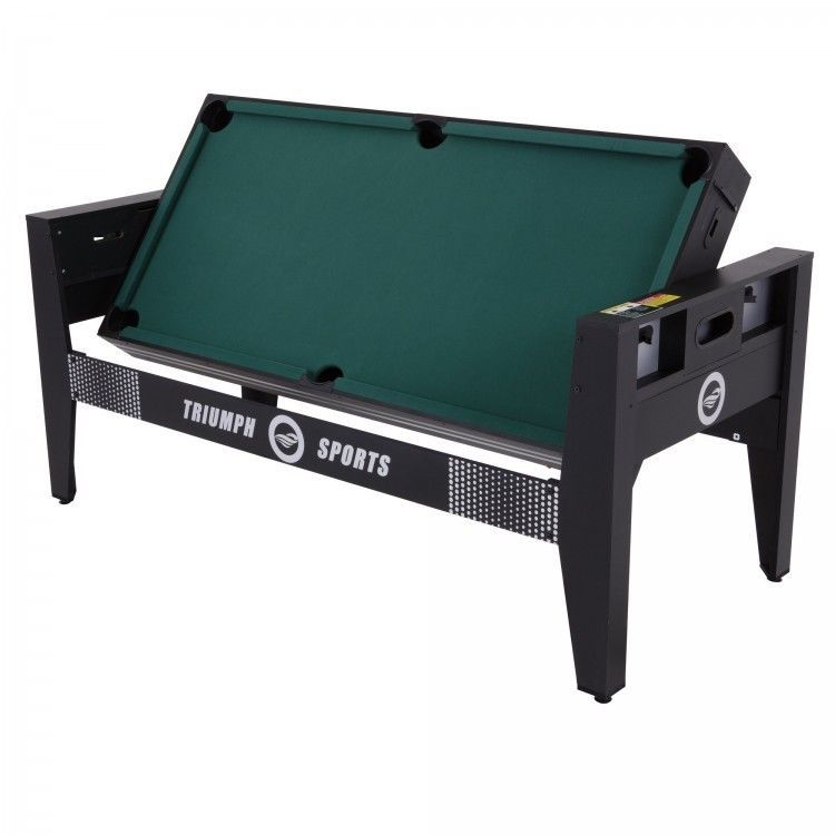 Combo Game Table Billiards   Table Tennis   Air Hockey   Football +  Accessories #TriumphSportsUSA