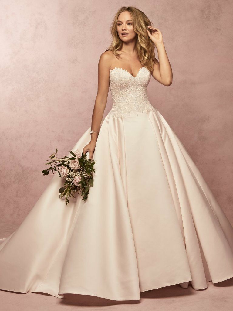 Francis satin ballgown wedding dress available at www