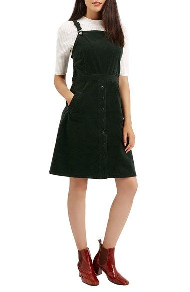 pick up vast selection good looking Topshop Corduroy Pinafore Dress available at #Nordstrom ...