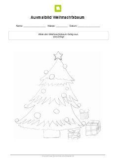 arbeitsblatt ausmalbild weihnachtsbaum kostenlose. Black Bedroom Furniture Sets. Home Design Ideas