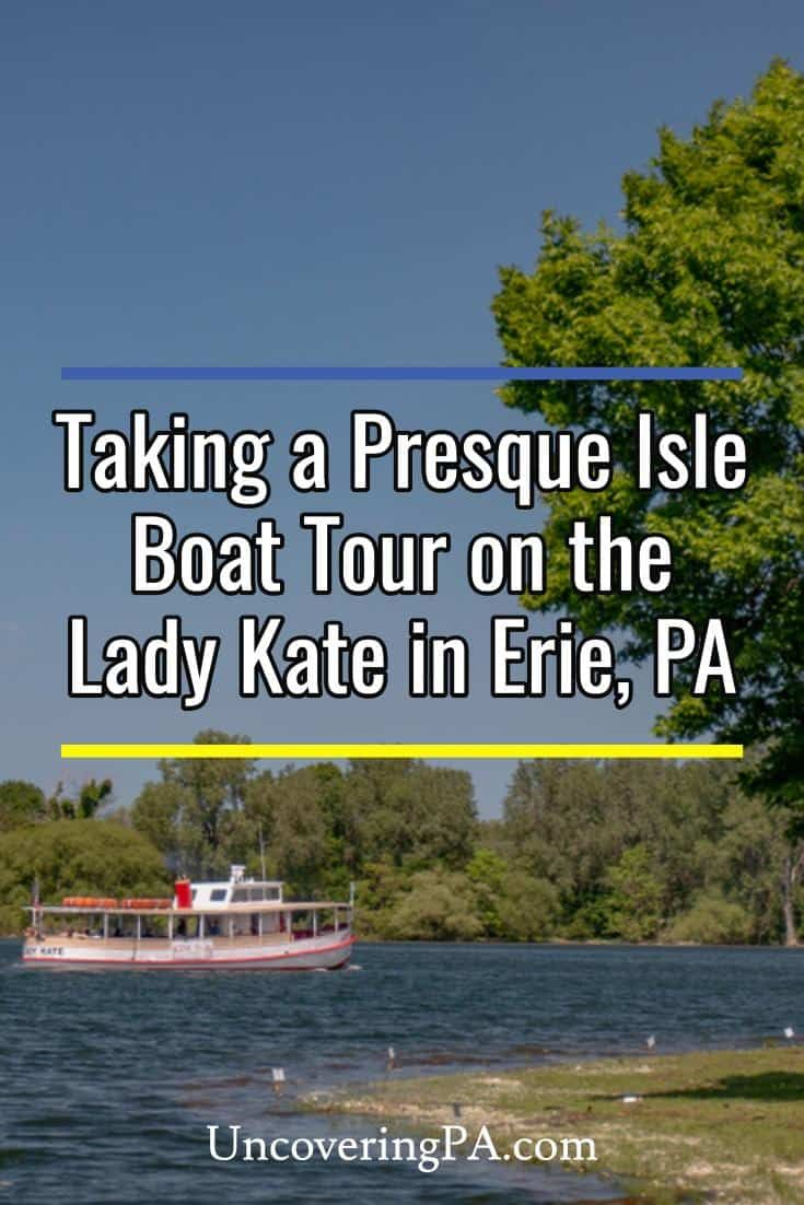 Taking a presque isle boat tour on the lady kate boat
