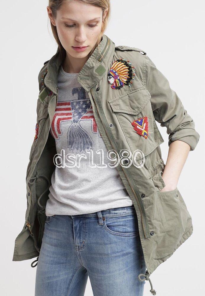 6bb3c7ac1ce77 Denim Supply Ralph Lauren Women Southwestern Indian Beaded Military Field  Jacket | Clothing, Shoes & Accessories, Women's Clothing, Coats & Jackets |  eBay!
