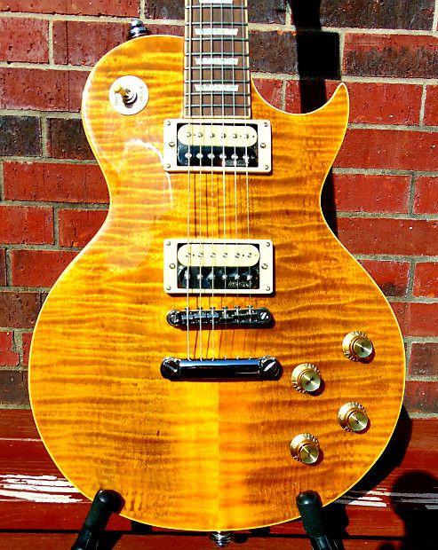 Vintage V100afd Appetite For Destruction Flamed Maple Top Slash Inspired Electric Guitar Case Amp D Guitars Reverb Guitar Guitar Case Electric Guitar