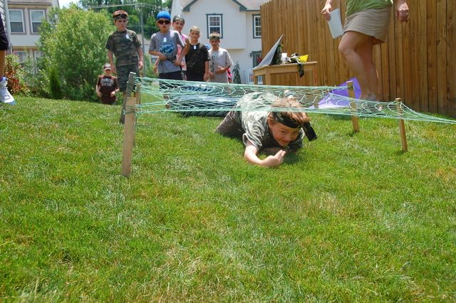Military Birthday Party Ideas Obstacle course Birthday party